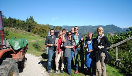 Vineyard tour along the South Tyrol Wine Route