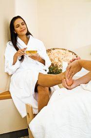 Bain et massage pour les pieds Alpienne