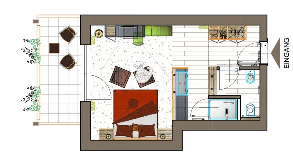 Doppelzimmer Giardino