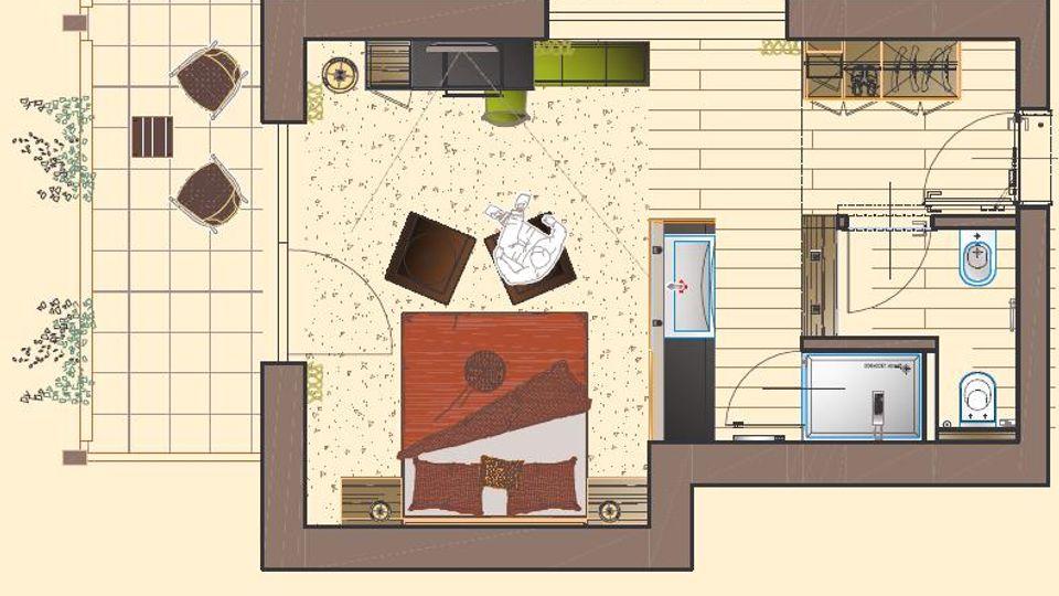 Doppelzimmer Giardino plus