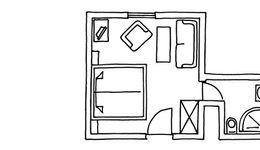 Chambre simple côté forêt, bâtiment principal