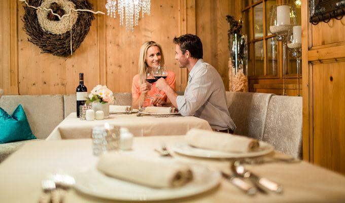 Abendessen im Rahmen der Gourmet-Halbpension